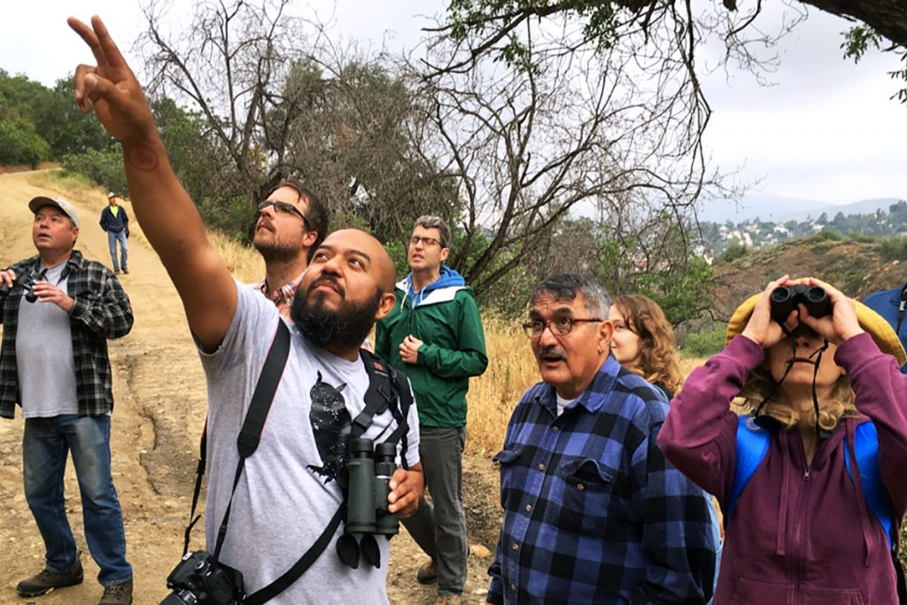 Birders at Debs Park, Bird LA Day
