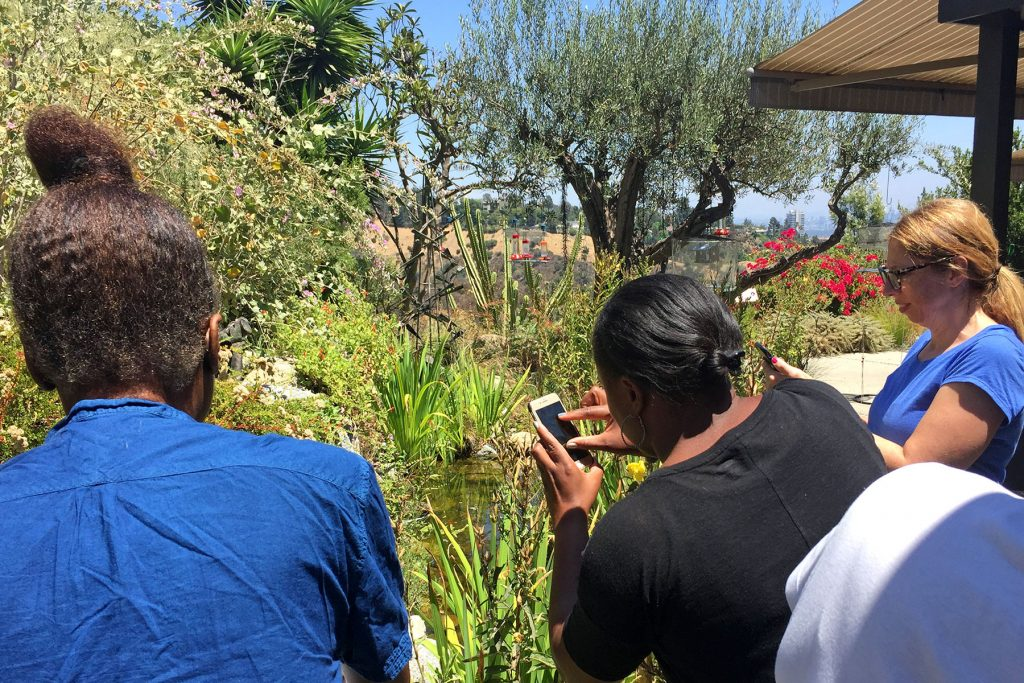 LMU Students Observe the Gottlieb Native Garden