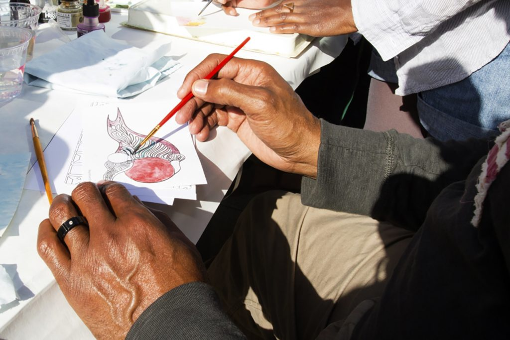 Bird Painting Workshop at UCLA, Bird Day LA