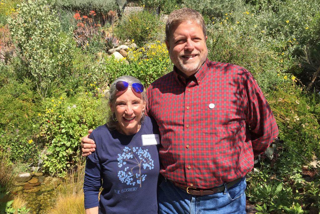 Eric Strauss of LMU with Susan Gottlieb